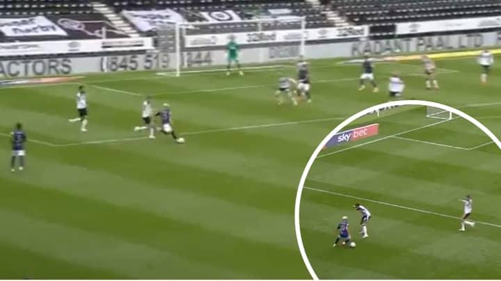 Said Benrahma Curls In Sensational Long-Range Goal Against Derby County