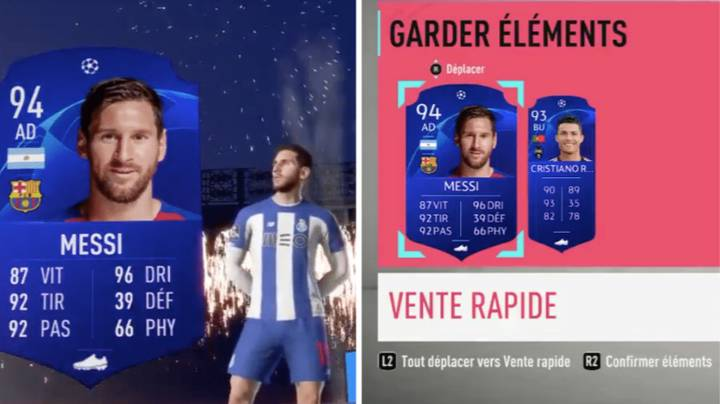 The Luckiest Gamer In History Packs Cristiano Ronaldo And Lionel Messi In FIFA 20 Ultimate Team
