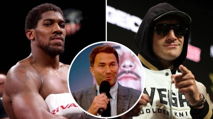 Eddie Hearn Responds To Tyson Fury Calling For Anthony Joshua To Drop WBO Title