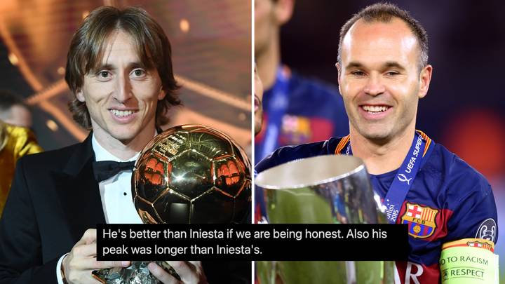 Fans Are Now Arguing That Prime Luka Modric 'Is So Much Better' Than Andres Iniesta Ever Was
