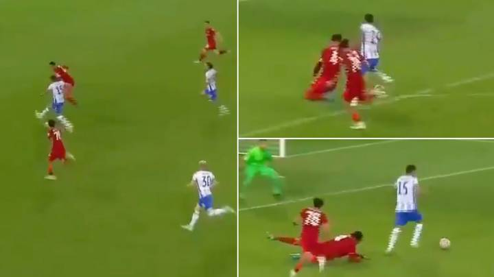 Virgil Van Dijk Gets 'Absolutely Spun' On His First Game Back For Liverpool