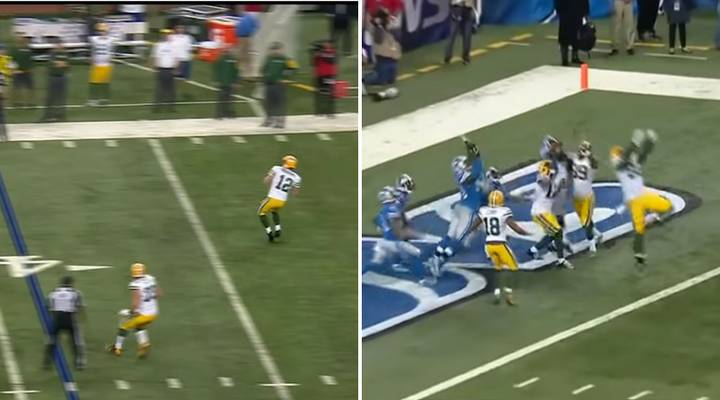 Aaron Rodgers' Last-Gasp Hail Mary Touchdown In Detroit Never Gets Old