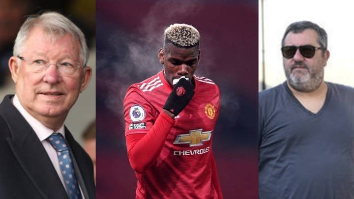Italy Veteran Reveals Mino Raiola and Sir Alex Ferguson Bust Up That Led To Pogba Transfer