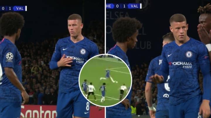 Willian Confronted Ross Barkley Over Chelsea Penalty Before He Blazed Over