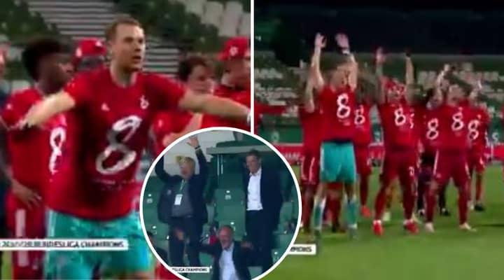 Bayern Munich Awkwardly Celebrate Bundesliga Title In Empty Stadium