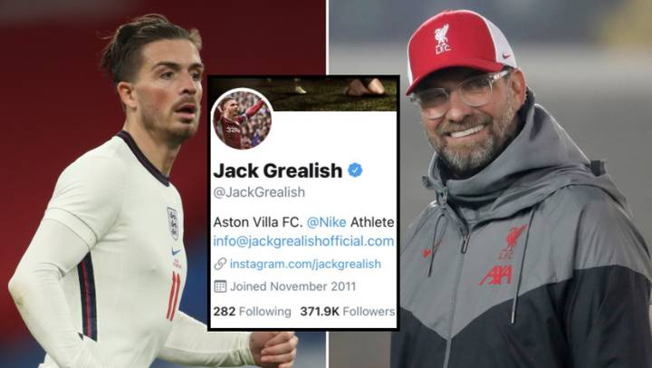 Liverpool Fans Have Hijacked Jack Grealish's 2012 Tweet About Manchester City