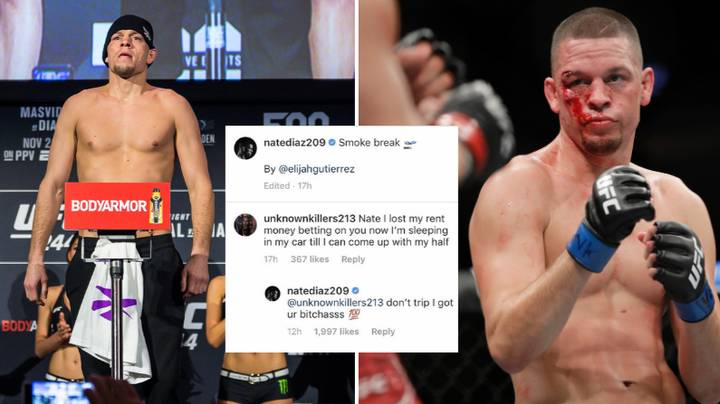Nate Diaz Pays Fans Rent Who Lost Money Betting On Him