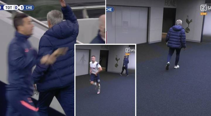 Furious Jose Mourinho Storms Down Tunnel After Eric Dier As Spurs Star Apparently 'Went For A S**t'