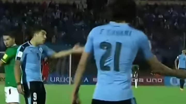 WATCH: What Happened Between Luis Suarez And Edinson Cavani During Uruguay Duty
