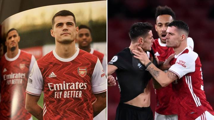 Granit Xhaka's Pre-Match Programme Notes Have Aged Horribly After Red Card Vs Burnley