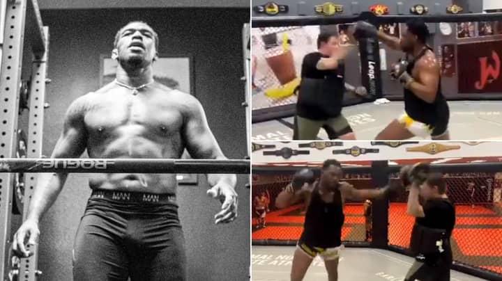 252lbs Jon Jones Shows Off Terrifying Heavyweight Power On The Pads Ahead Of UFC Return