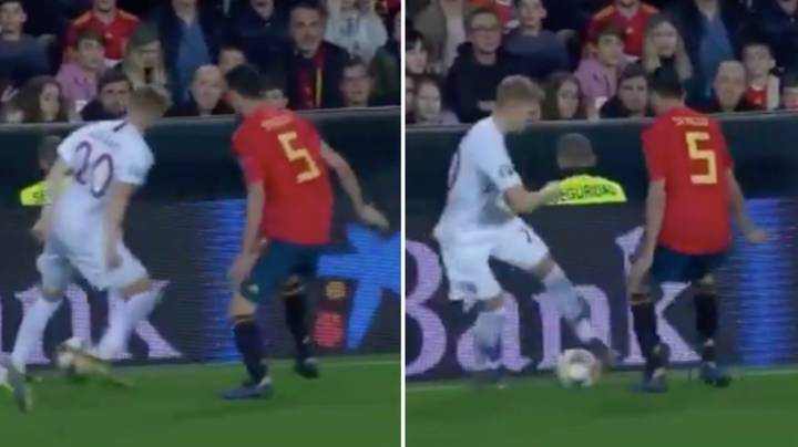 Martin Odegaard Sends Sergio Busquets Back To Barcelona With Mesmerising Dribble