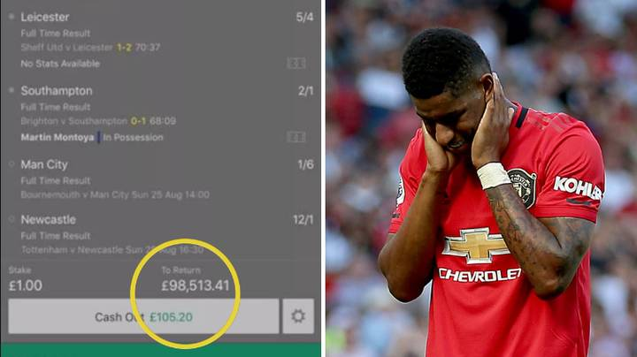 Guy Cashes Out £1 Accumulator At £200 And It Went On To Win Nearly £100,000