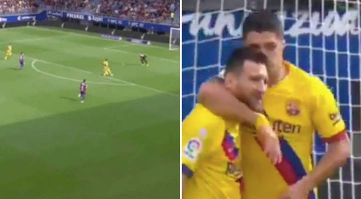 Lionel Messi Set Up Luis Suarez with An Amazing Assist In Barcelona's Thrashing at Eibar