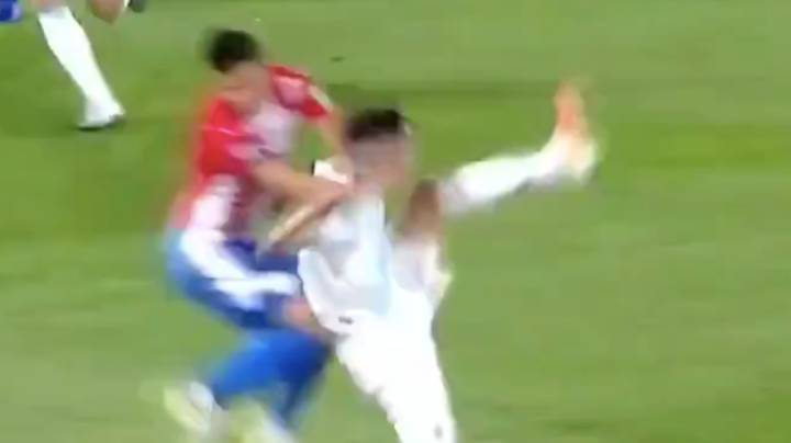 The Wild Flying Knee Tackle That Resulted In Argentina's Exequiel Palacios Suffering A Fractured Spine