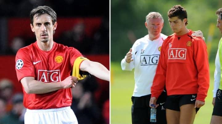 Gary Neville Explains Why Sir Alex Ferguson Never Made Cristiano Ronaldo Captain