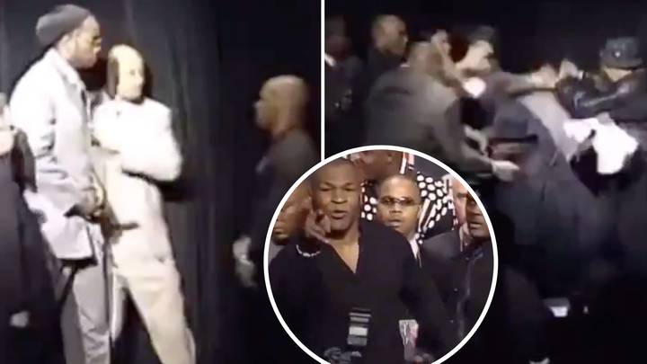 When Lennox Lewis And Mike Tyson Fought On Stage In The Craziest Live Face-Off Ever