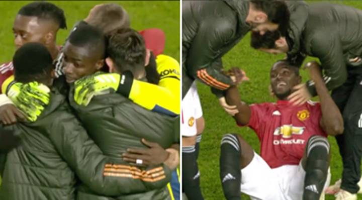 Manchester United Players Swarmed Eric Bailly After Heroic Last-Gasp Block