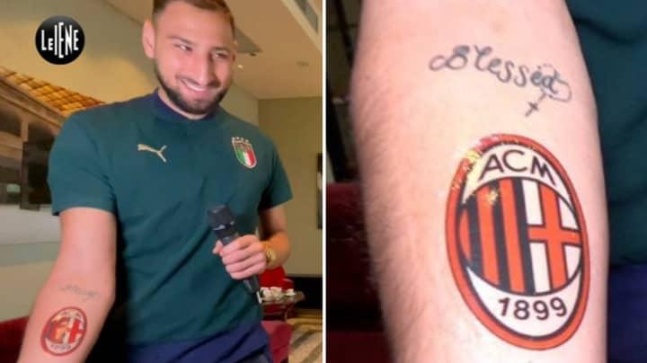 Gianluigi Donnarumma Promises To Get AC Milan Crest Tattoo On His Arm
