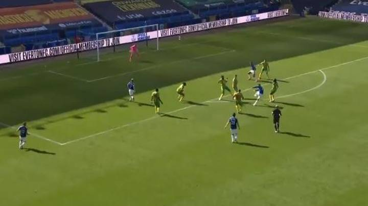 James Rodriguez Scores His First Everton Goal With Brilliant Strike