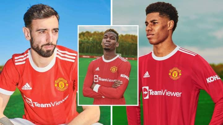 Manchester United Unveil New Home Kit For 2021/22 Premier League Season