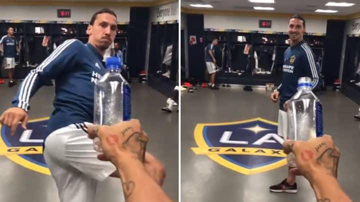 Zlatan Ibrahimovic Joins In On The Bottle Cap Challenge