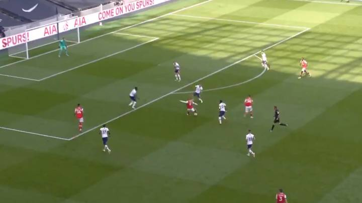 Alexandre Lacazette Scored An Absolute Screamer To Give Arsenal The Lead In North London Derby