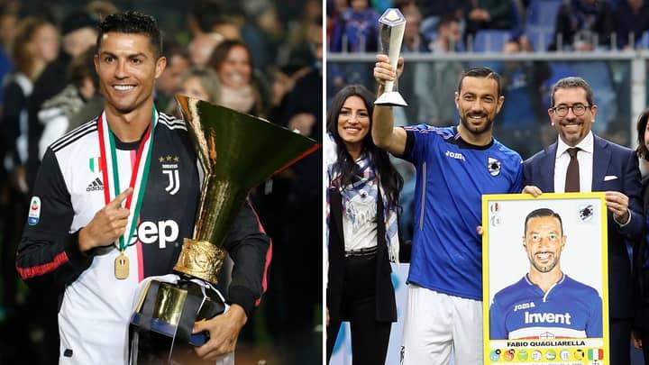 Fabio Quagliarella And Cristiano Ronaldo Both Snubbed In Serie A Team Of The Season