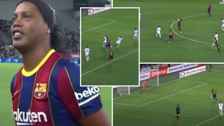Compilation Of 41-Year-Old Ronaldinho Vs Real Madrid Legends Proves He's Football's Greatest Entertainer