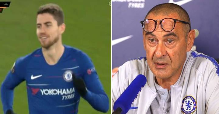 Maurizio Sarri Defends Jorginho After Being Booed By Chelsea Fans
