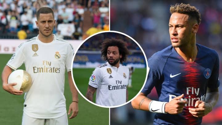 Real Madrid's Marcelo Says Neymar Is Better Than Eden Hazard