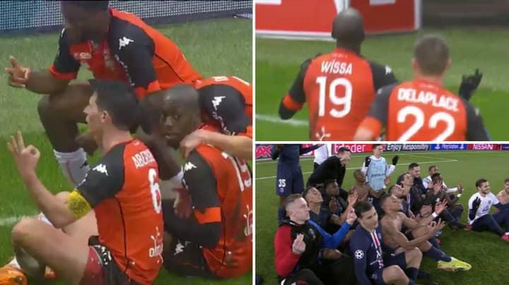 Lorient Players Perform Erling Haaland's Meditation Celebration Against Paris Saint-Germain