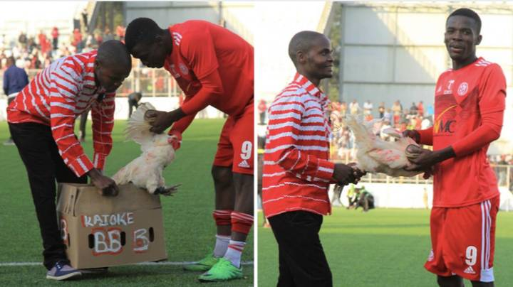 Malawian Player Presented With Chicken For Man Of The Match Performance