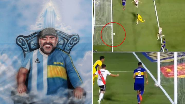 'The Spirit Of Diego Maradona' Defied The Laws Of Physics To Stop River Plate Scoring Vs Boca Juniors