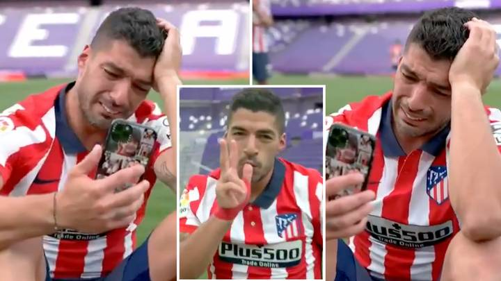 Luis Suarez Breaks Down In Tears While He FaceTimes Family After Atletico Madrid Clinch La Liga Title