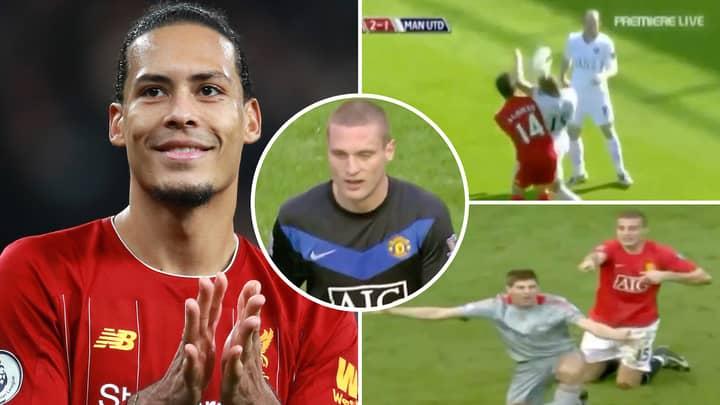 Nemanja Vidic Compilation 'Proves' He Is A 'Joker' Compared To Liverpool Star Virgil Van Dijk