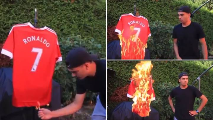 Manchester United Fan Burnt His Cristiano Ronaldo Shirt On Camera Hours Before Transfer