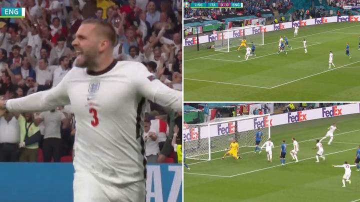 Luke Shaw Scored The Fastest Goal In Euros Final History And Wembley Erupted