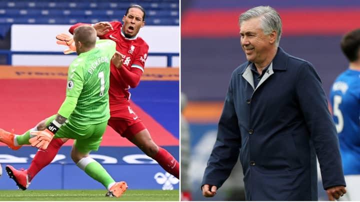 Liverpool Fans Accuse Carlo Ancelotti Of Lying Over Virgil van Dijk Injury