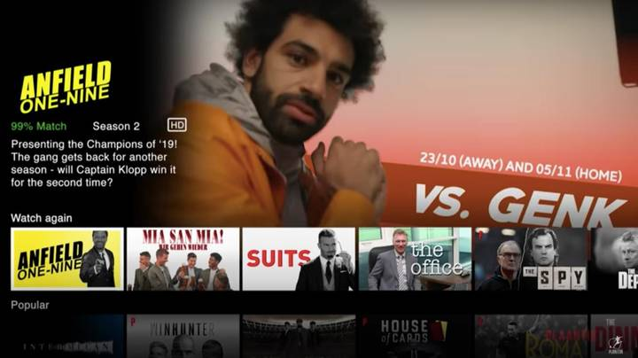 Someone Has Created A Netflix Dedicated To Champions League Football And It's Incredible