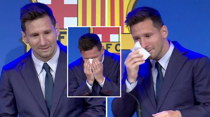 Lionel Messi Says Emotional Farewell To Barcelona At Press Conference