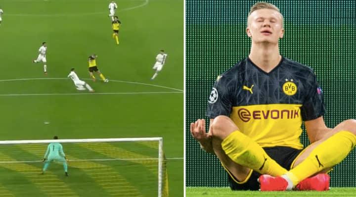 Erling Haaland Scores Absolute Screamer For Borussia Dortmund Vs PSG