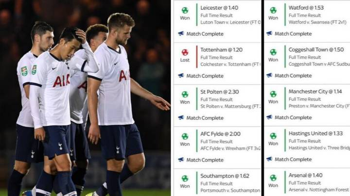 Spurs Loss Costs Punter £13,000 From £1 Bet On 20 Fold Accumulator