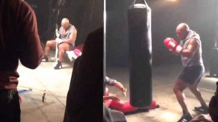 At The Age Of 51, Mike Tyson Still Looks Absolutely Terrifying On The Heavy Bag