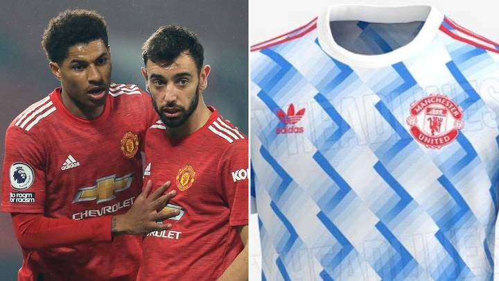 Manchester United's 21-22 Away Kit Has Leaked Online And It's The Greatest 'Retro' Look Ever