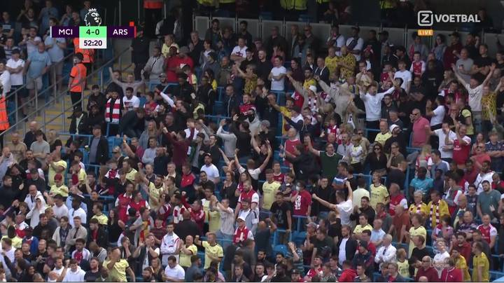 Arsenal Fans Genuinely Celebrated Rodri's Goal For Man City Like They Had Scored