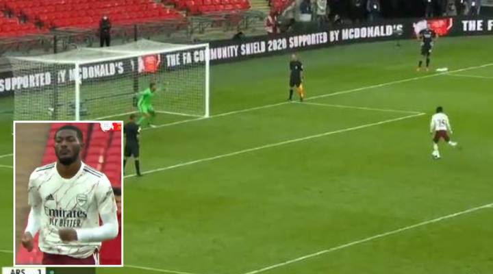 Ainsley Maitland-Niles Scores Ice-Cold Penalty In Community Shield Final
