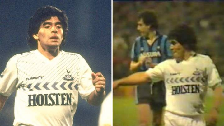 When Diego Maradona Played For Spurs At White Hart Lane Wearing Borrowed Boots