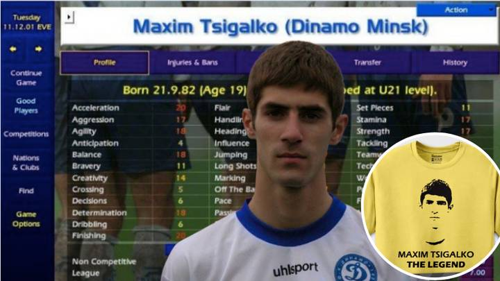 What Happened To Championship Manager's Greatest Player, Maxim Tsigalko