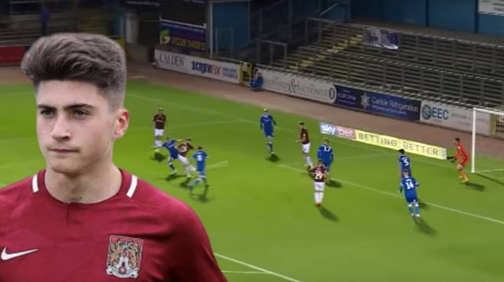 Former Hashtag United Player Scott Pollock Scores First Professional Goal For Northampton